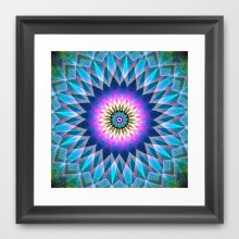 'Center Point' is available as a framed art print through Society6