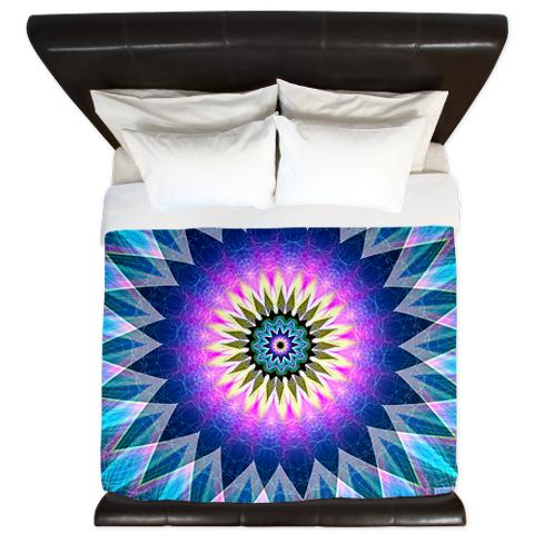'Center Point' is available as a king duvet cover through Cafepress