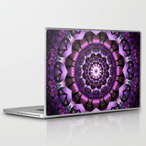 'Fairy Flower' is available as  laptop and iPad skins through Society6