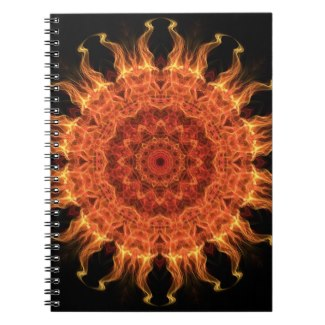 'Flaming Sun' is available as a journal through Zazzle