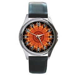 'Flaming Sun' is available as a  watch through ZandiepantsGiftShop