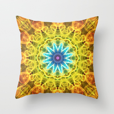 'Flower Bouquet' is available as a  pillow through Society6