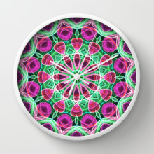 'Flower Garden' is available as a clock through Society6