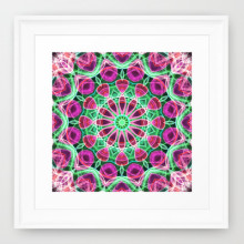 'Flower Garden' is available as a framed art print through Society6