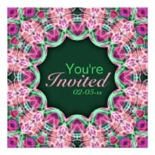 'Flower Garden' is available as party invitations through Zazzle.