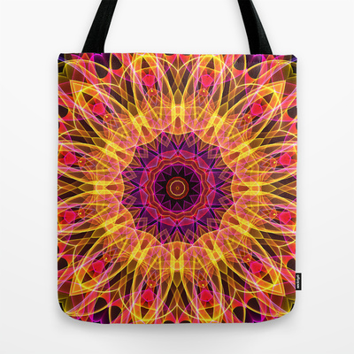 'Gemstone Dream' is available as  tote bag through Society6