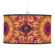 'Gemstone Dream' is available as a hanging lamp through Zazzle.
