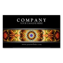 'Ochre Burnt Glass' is available as business cards through Zazzle