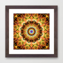 'Ochre Burnt Glass' is available as a framed art print through Society6