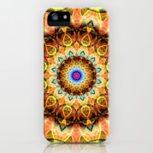 'Ochre Burnt Glass' is available as a iPhone case through Society6