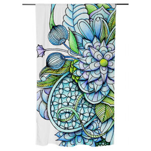 'Peaceful Flower Garden2' is available as curtains through 'print all over me'