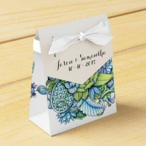 'Peaceful Flower Garden' is available as party favor box through Zazzle