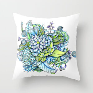 'Peaceful Flower Garden' is available as a pillow through Society6