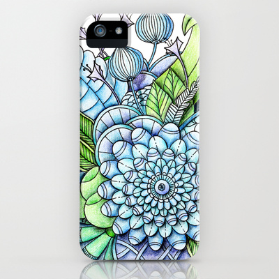 'Peaceful Flower Garden2' is available as iPhone and iPod cases through Society6