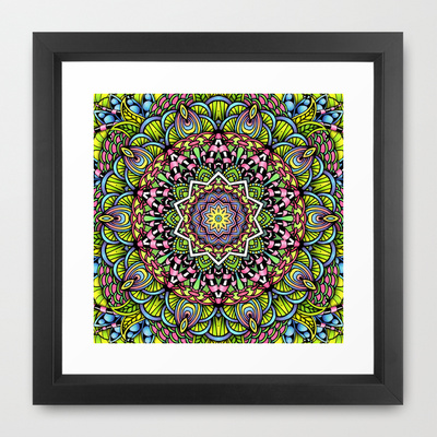 'Psychedelic Leaves' is available as a framed art print through Society6