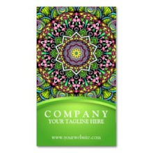 'Psychedelic Leaves' is available as business cards through Zazzle.