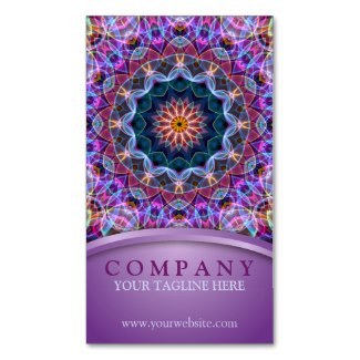 'Purple Soap Bubble' is available as a business card through Zazzle