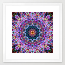 'Purple Soap Bubble' is available as a framed art print through Society6