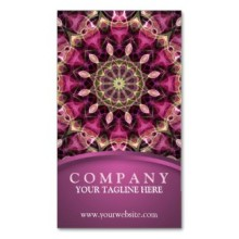 'Purple Flower' is available as business cards through Zazzle