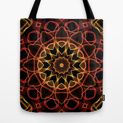 'Yellow & Red Magic' is available as  totebag through Society6