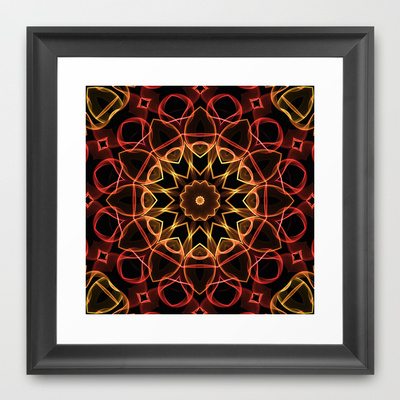 'Yellow & Red Magic' is available as a framed art print through Society6