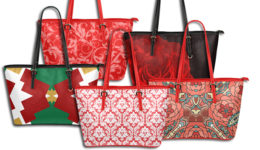 Red Leather Tote Bags