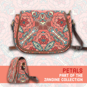 Petals pale red rose, large saddle bag