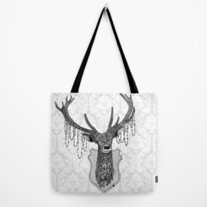 "Ornate Deer Totebag 18""x18"""