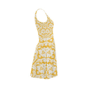 Sunny yellow damask sundress