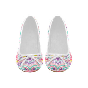 Ballet Pumps, geometric pattern mulitcolor