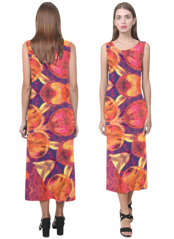 Sunburst abstract peach cream star quilt autumn dress by DianeClancy via Artsadd