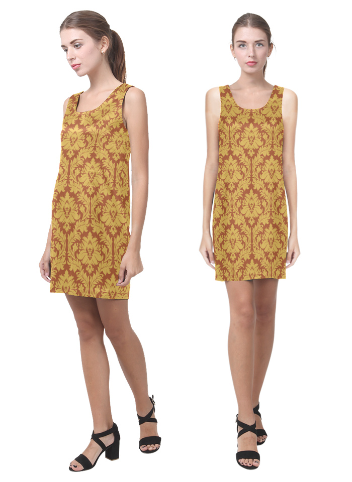 Damask autumn yellow