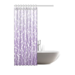 "Purple Ombre shower curtain - 48""x72"""