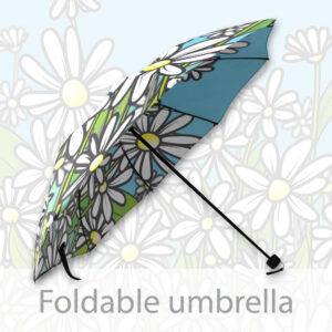 Foldable Umbrella Daisy Flower Field - cartoon style