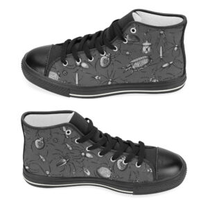 insects, beetles & spiders high top canvas shoes