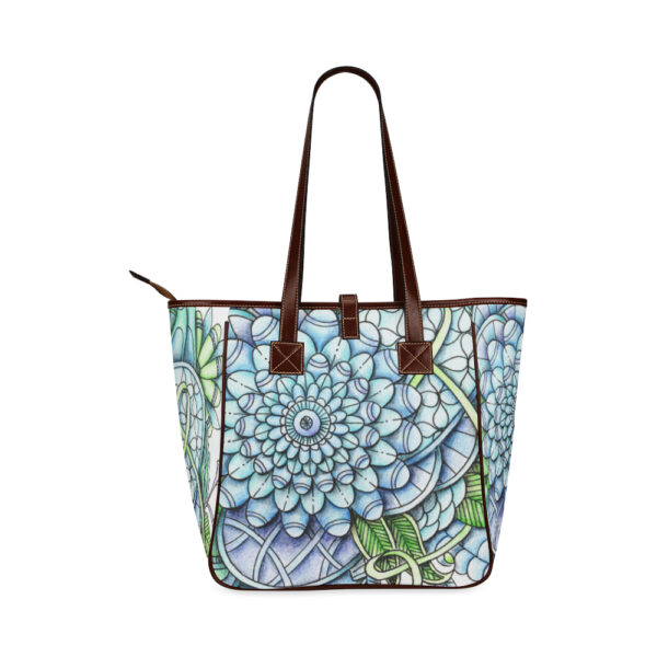 peaceful flower garden totebag back side