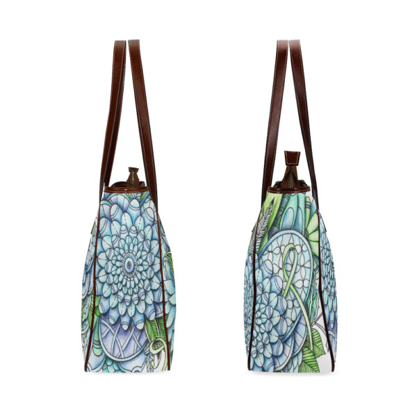 peaceful flower garden totebag both sides