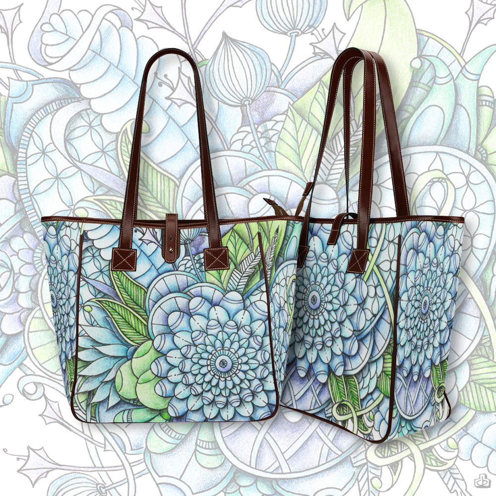 peaceful flower garden totebag