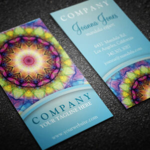 Rainbow Glass Mandala - Business Cards