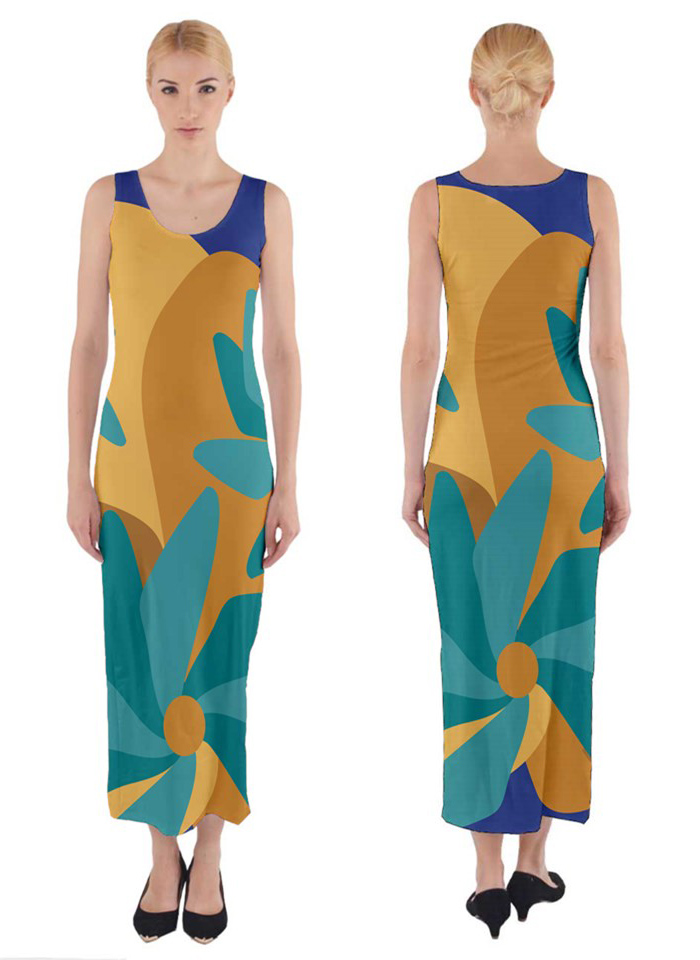 Urban garden abstract flower maxi dress via CircusValleyMall