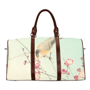 Japanese bird and plum blossom - travel bag