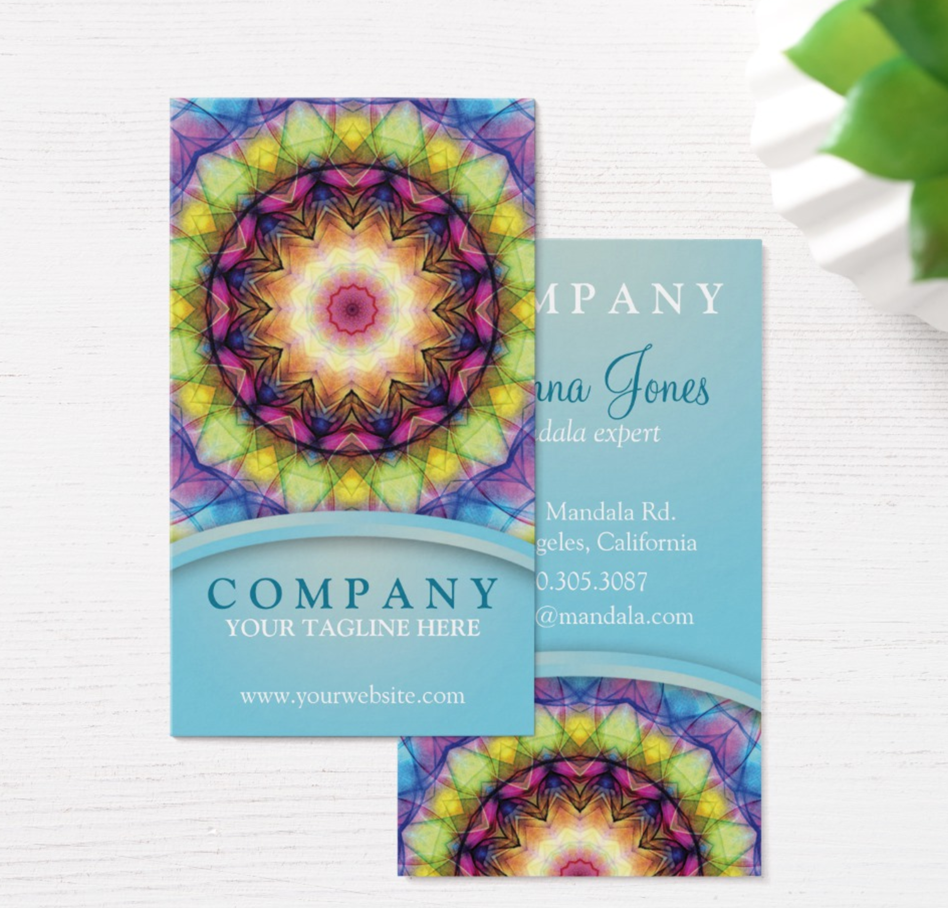 Rainbow glass mandala business cards zandiepants rainbow glass mandala business cards colourmoves